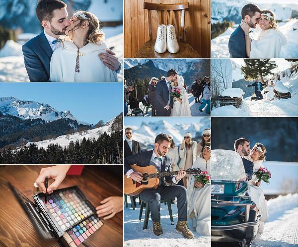 Rhône Alpes Le Gîte du Passant Winter Wedding Snapshot