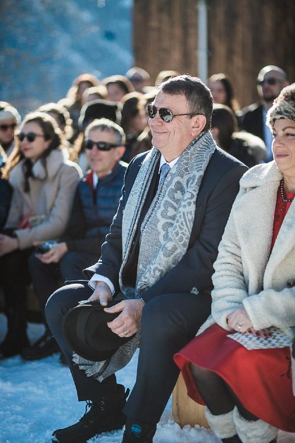 Romantic Snowy Wedding Ceremony