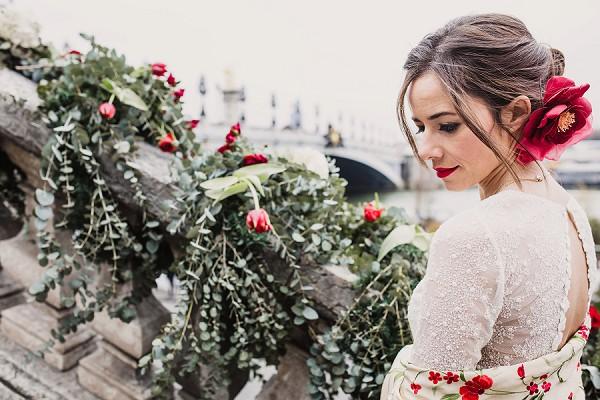 Romantic wedding look