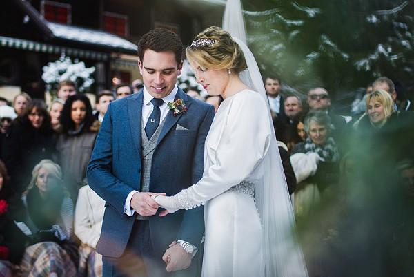 Snowy French Wedding