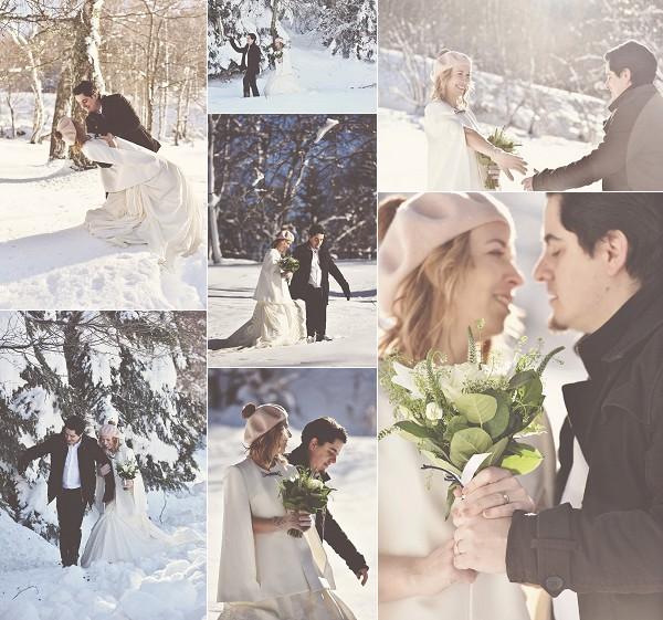 Snowy Pyrenees 10 Year Wedding Anniversary Snapshot