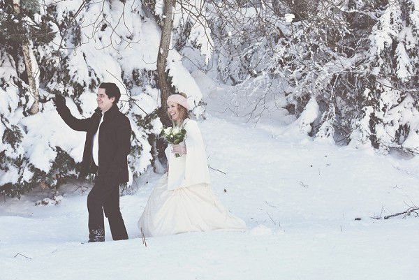 Snowy Pyrenees Vow Renewal
