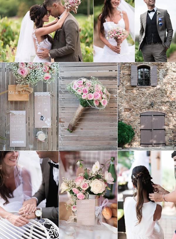 Vintage Inspired Domaine du Pourret Wedding Snapshot