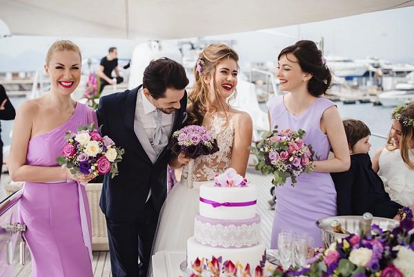 Yacht wedding inspiration shoot
