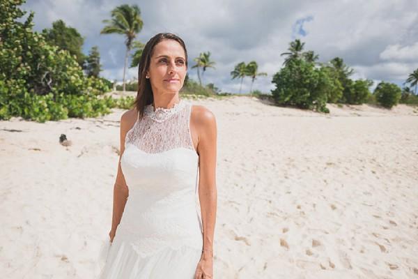 bride beach wedding