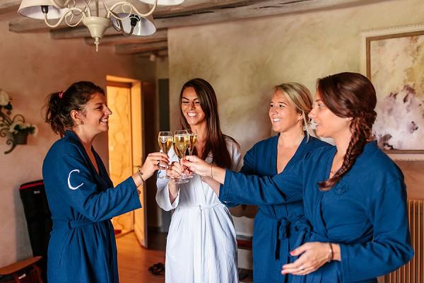 champagne bridal morning