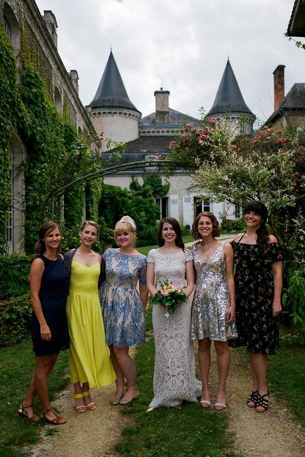 chateau wedding guests