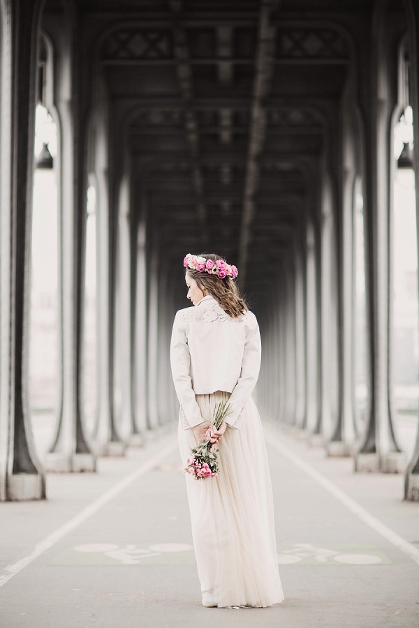 cream wedding jacket