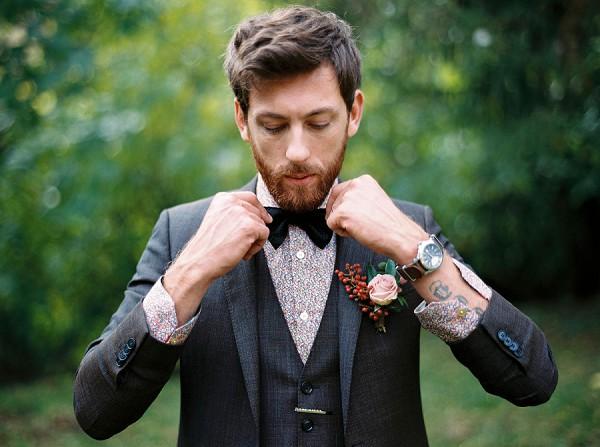 dapper groom vintage style