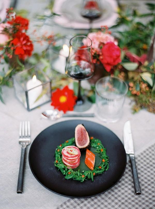 fancy wedding meal