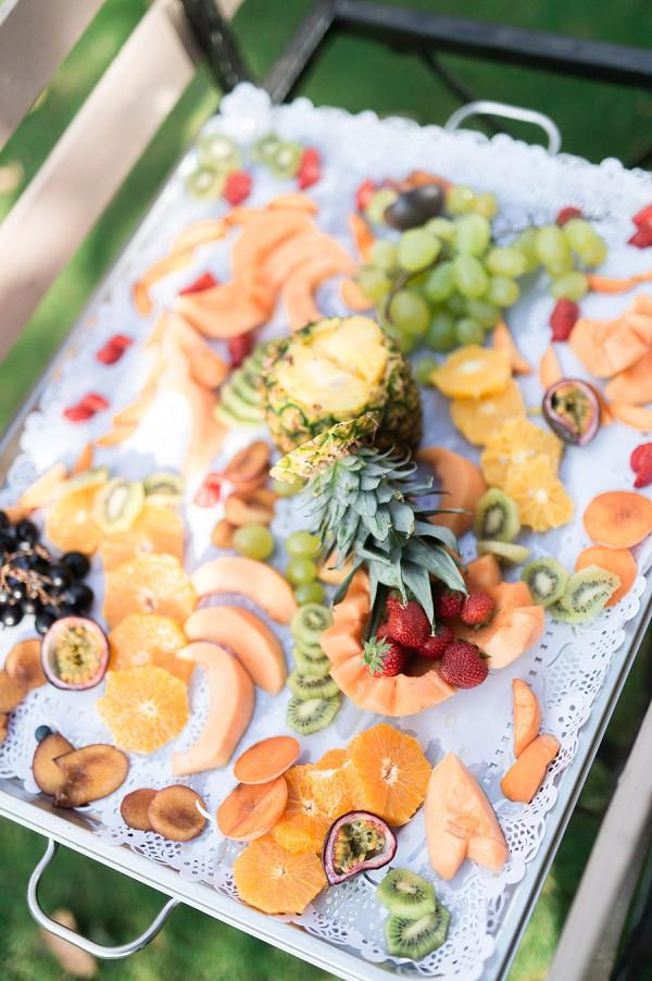 fruit wedding canapes