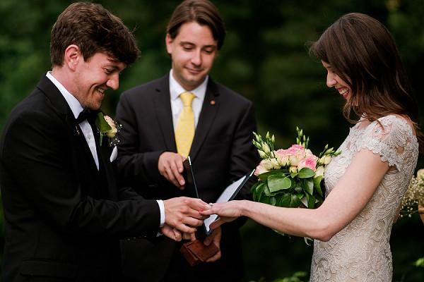 intimate chateau wedding ceremony