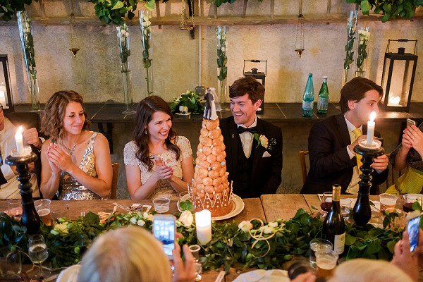 intimate wedding meal