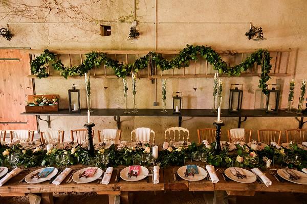 long wedding reception table