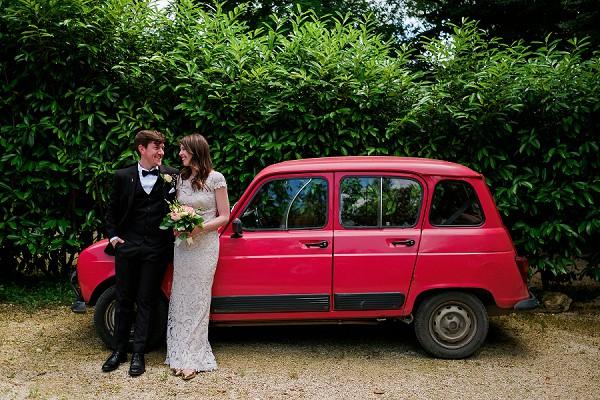old French wedding car