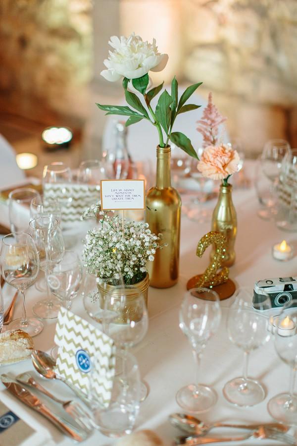 pretty gold theme wedding
