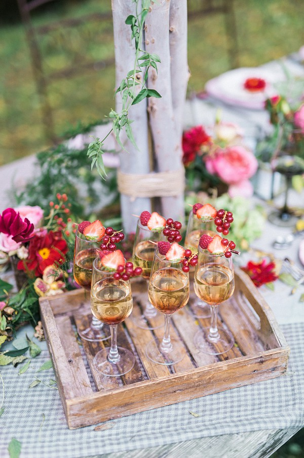 pretty wedding cocktails