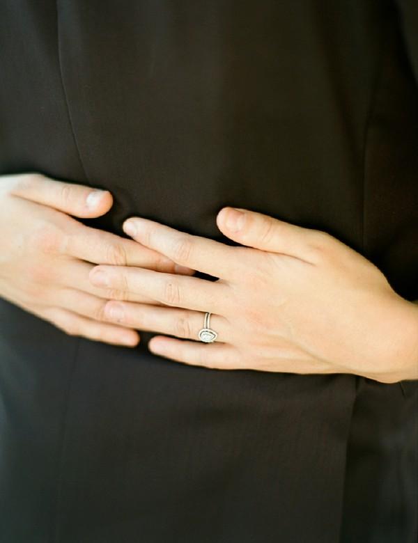 stunning wedding ring duo