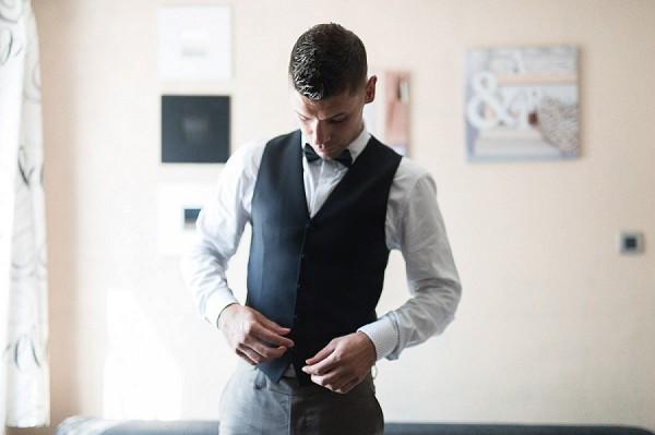 vintage groom look