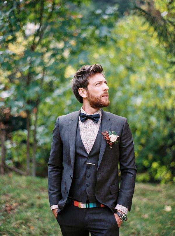 vintage inspired groom
