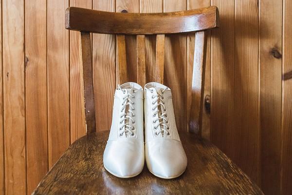 white winter wedding shoes