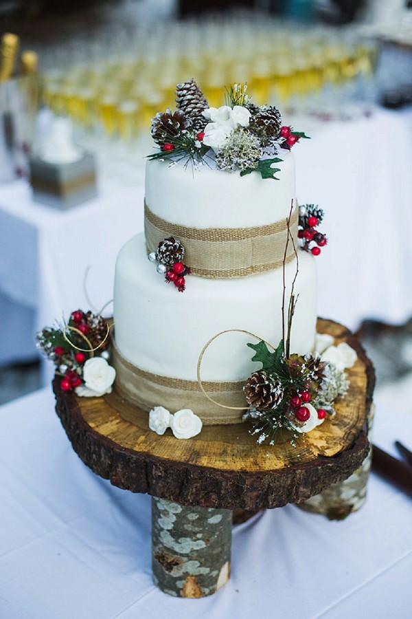 winter inspired wedding cake