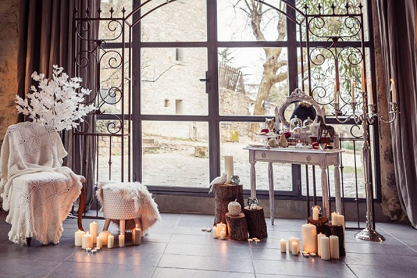 winter wedding styling