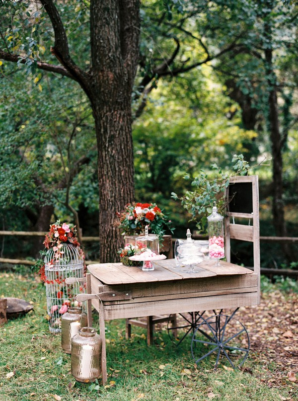 woodland wedding sweet table
