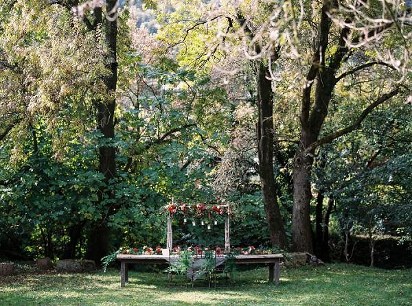 woodland wedding table