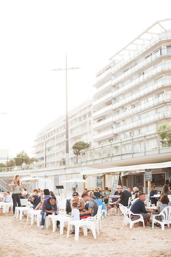Beach cafe France
