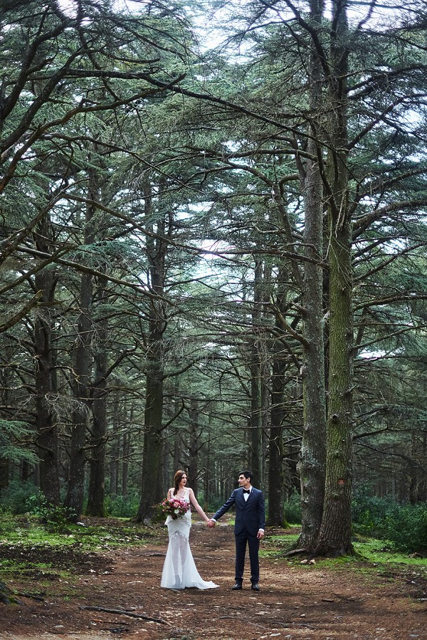 Forest wedding day