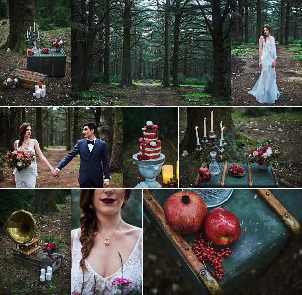 RED VELVET ENCHANTED FOREST STYLED SHOOT