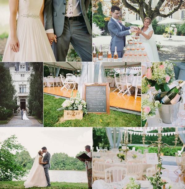 Summer Chateau de la Beuvrière Wedding Snapshot
