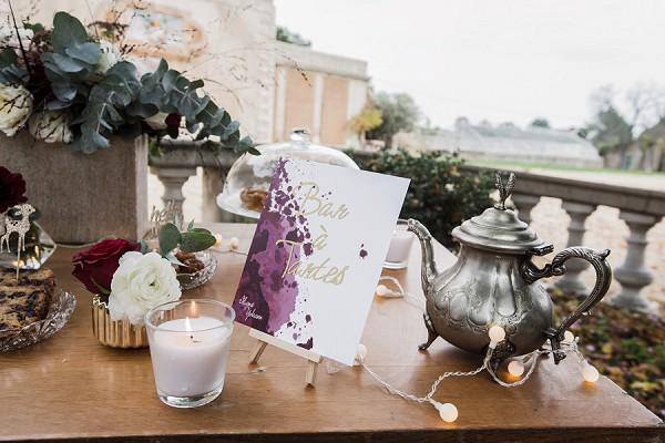 Tea and cake wedding bar
