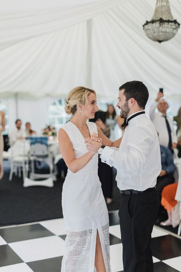 black tie marquee wedding