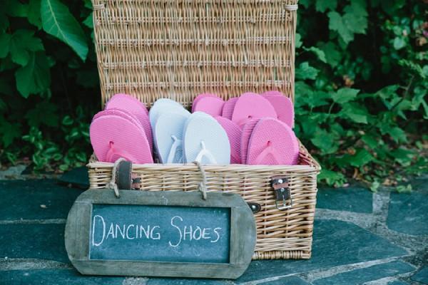 dancing shoes flip flops wedding