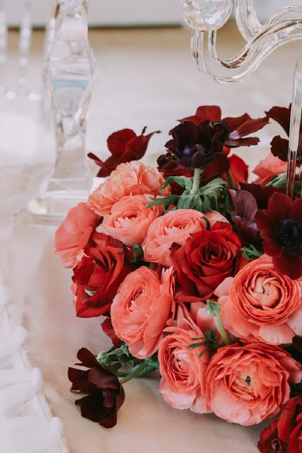 deep pink wedding roses