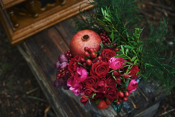 fruit and flowers wedding details