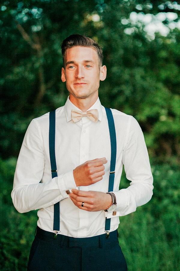 gold bow tie groom