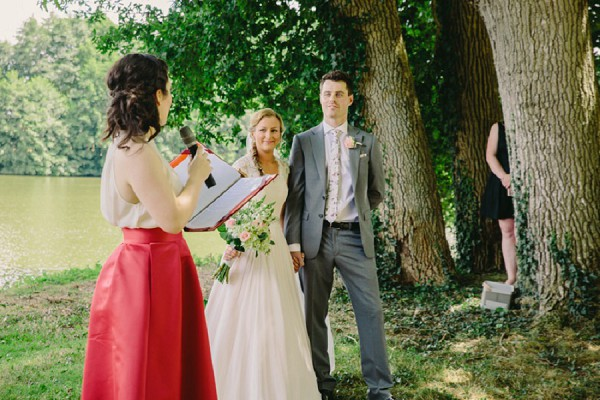 river side wedding ceremony