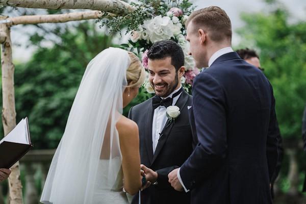 romantic black tie ceremony