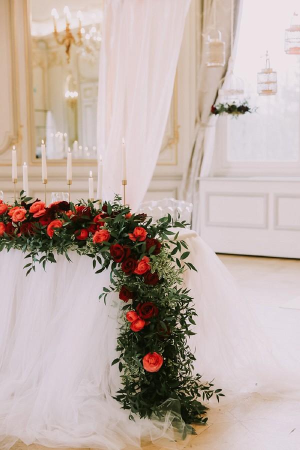 romantic wedding florals