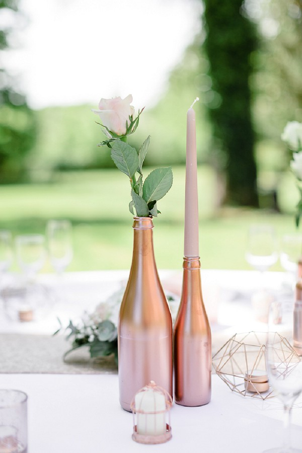 rose gold wedding details