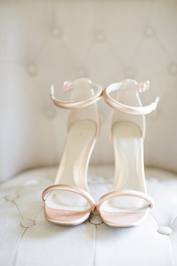 rose gold wedding heels