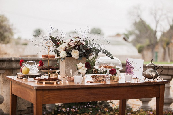 rustic desert table
