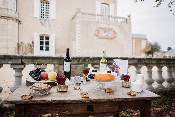 rustic wedding cheese table