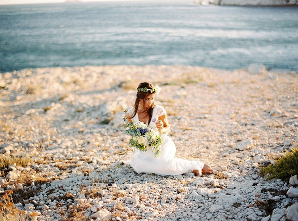 stylish beach wedding