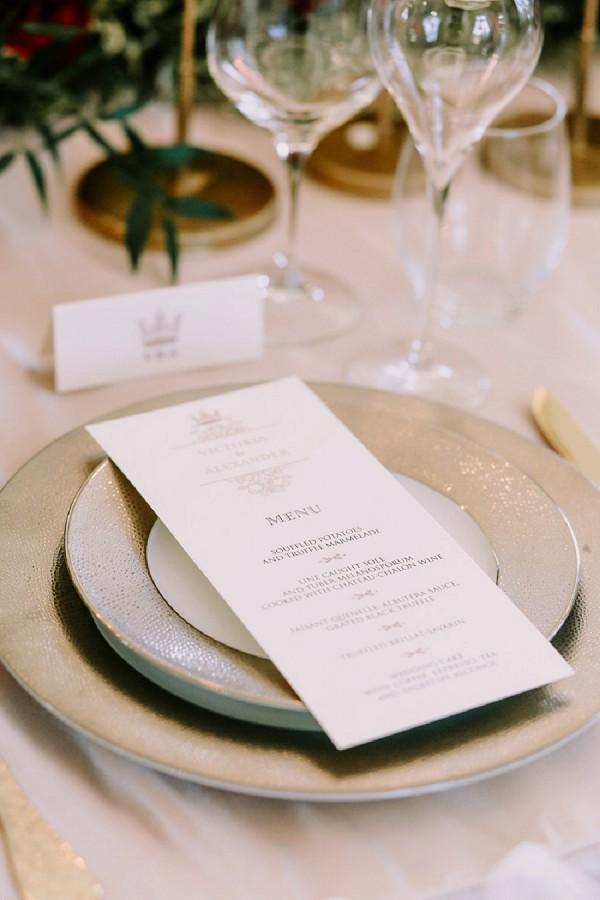 stylish wedding table