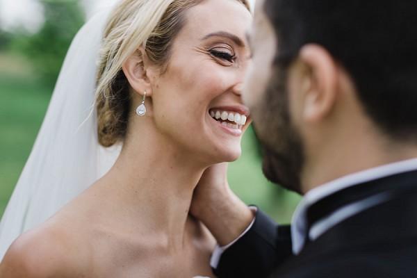 tear droplet wedding earrings