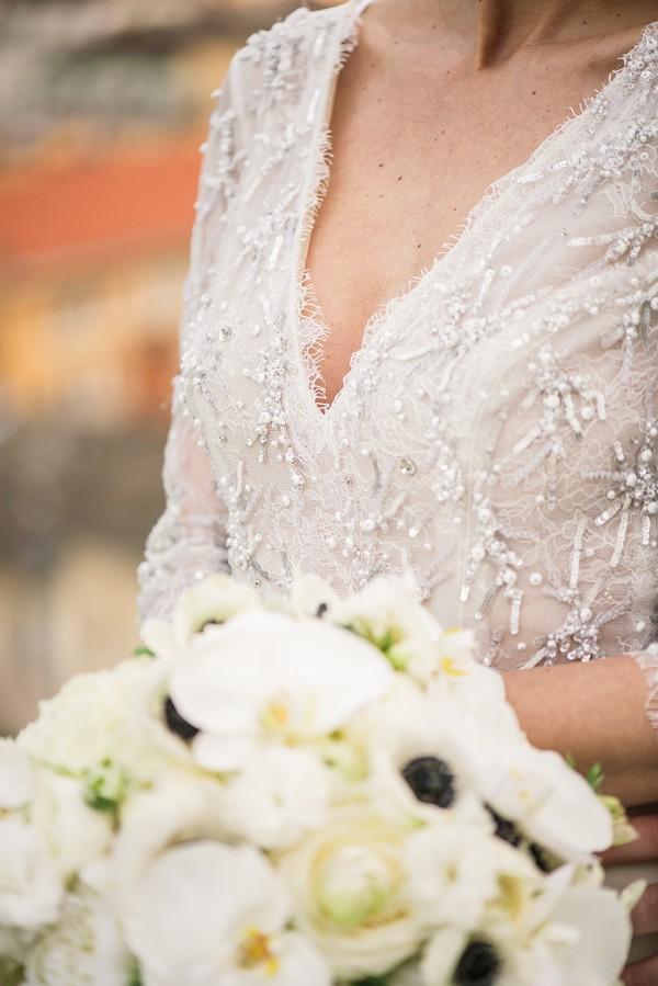 v drop wedding gown